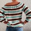 Sweter robiony szydełkiem