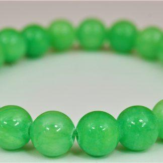 Bransoletka z jadeitu (zielona)