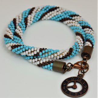 Bransoletka sznur koralikowy