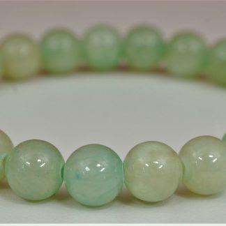 Bransoletka z jadeitu (zielono-szara)