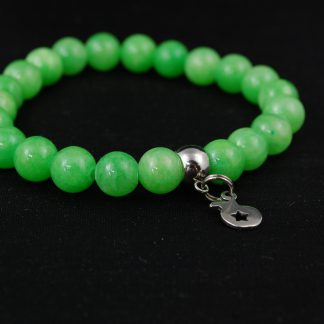 Bransoletka Jadeit zielony z zawieszką