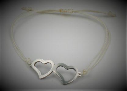 Bransoletka sznurkowa serca