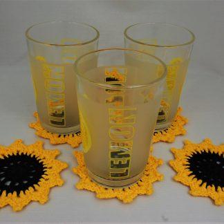 Podkładki słoneczniki pod szklanki