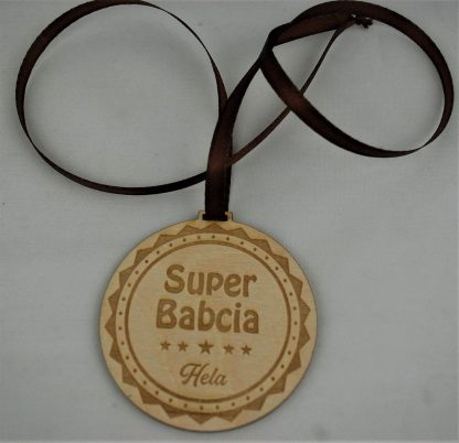 Medal drewniany